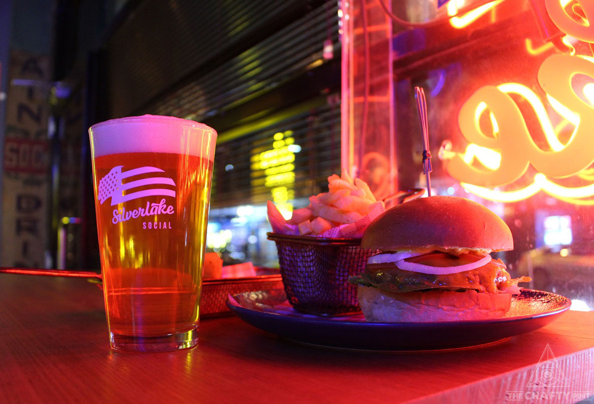 Burger & Beer for $20 at The Silverlake Social