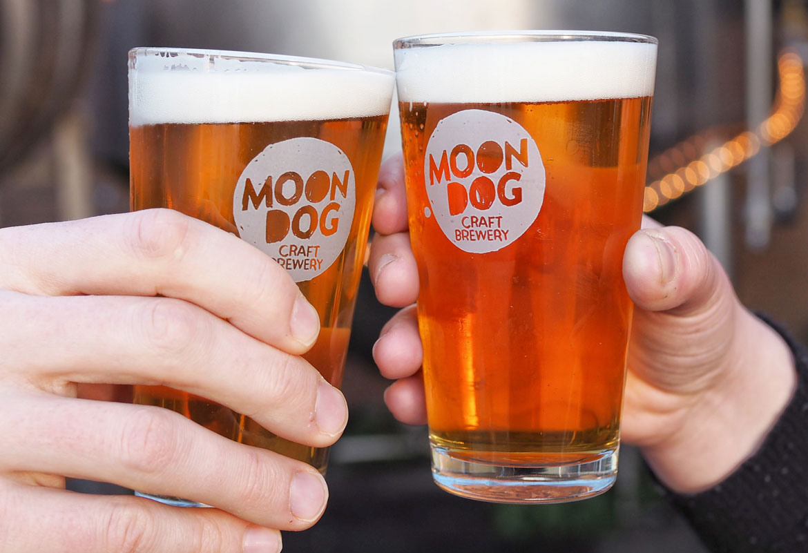 Free Tap Beer every day at Moon Dog Abbotsford