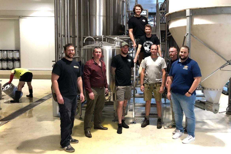Newstead brewing team with Matthias Ebner (right)