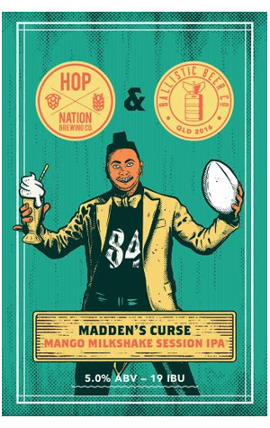 Ballistic Beer Co & Hop Nation Madden's Curse - The Crafty Pint